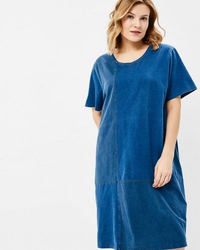 Синее платье Ulla Popken