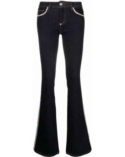 Niebieskie klasyczne jeansy Philipp Plein