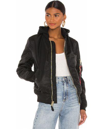 Черная хлопковая куртка Alpha Industries