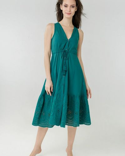 Пляжное платье - зеленое Ora