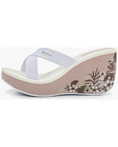 Сабо белые на каблуке Ipanema
