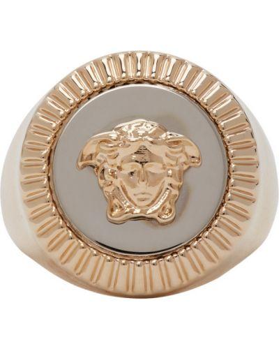 Серебряное кольцо Versace