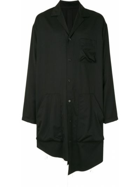 Klasyczna czarna klasyczna koszula z długimi rękawami Sulvam