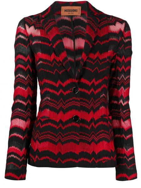 Красный пиджак с накладными карманами на пуговицах Missoni