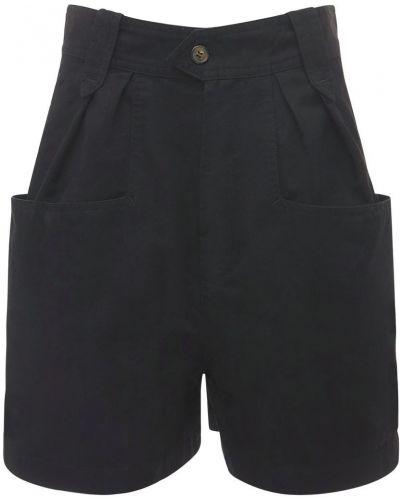 Хлопковые черные шорты с карманами Isabel Marant étoile