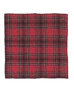 Платок красный с карманами Isaia