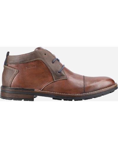 Кожаные полуботинки - коричневые Rieker