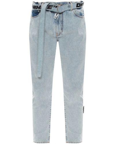 Mom jeans bawełniane - białe Off-white