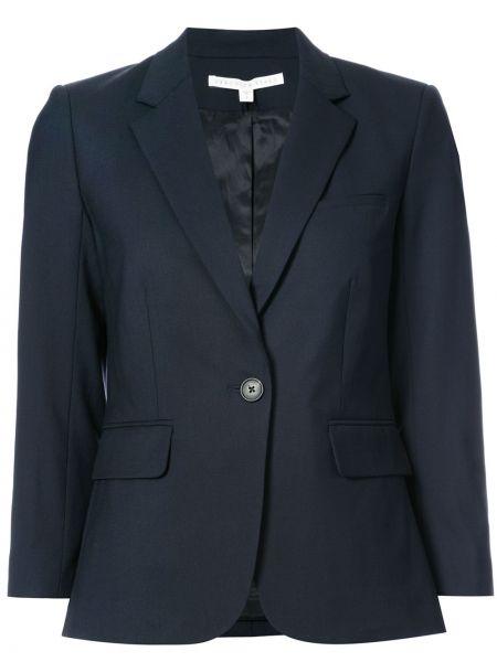 Синий шерстяной школьный пиджак эластичный Veronica Beard