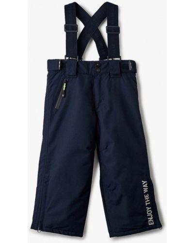 Синие теплые брюки Sela