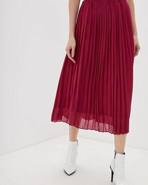 Плиссированная юбка бордовый красный With&out