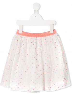 Biała spódnica mini rozkloszowana tiulowa Billieblush
