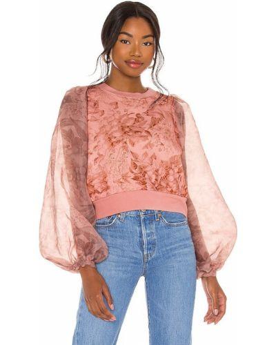 Różowy sweter bawełniany zapinane na guziki Selkie