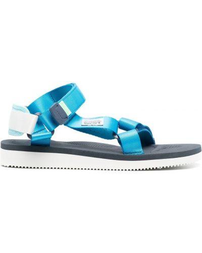 Niebieskie sandały peep toe Suicoke