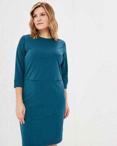 Повседневное платье осеннее бирюзовый Sparada