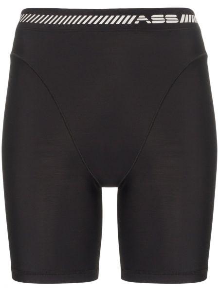 Облегающие черные спортивные шорты Adam Selman Sport