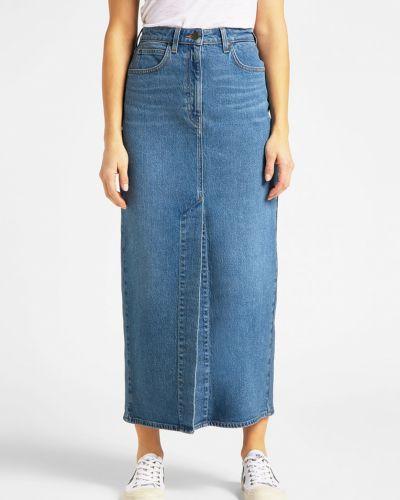 Джинсовая юбка макси - голубая Lee