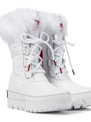 Кожаные белые ботинки Sorel
