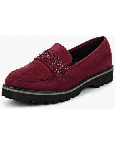 Лоферы красные на каблуке Topway