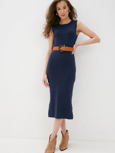 Платье прямое синее Rodier