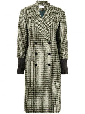 Зеленое пальто двубортное Chloé
