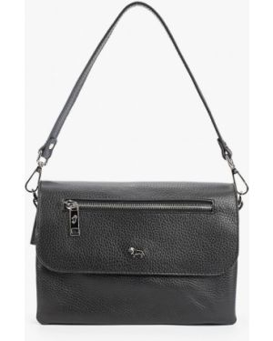 Кожаная сумка через плечо черная Labbra
