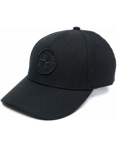 Шерстяная кепка - черная Stone Island