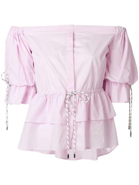Розовый топ с открытыми плечами Christian Pellizzari