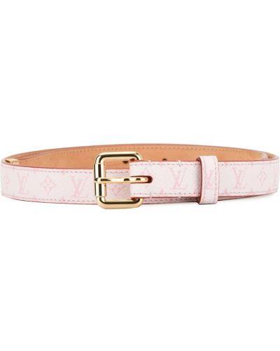 Розовый ремень с пряжкой Louis Vuitton Pre-owned