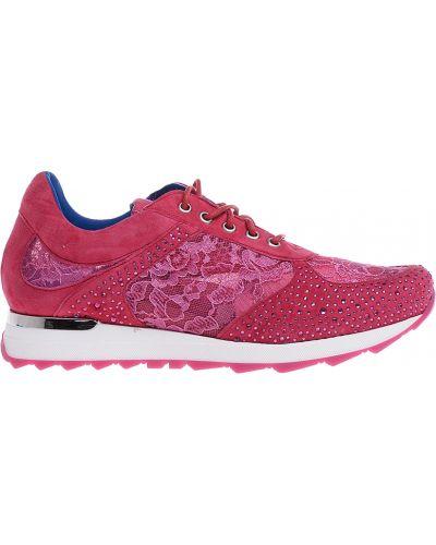 Текстильные кроссовки - розовые Albano