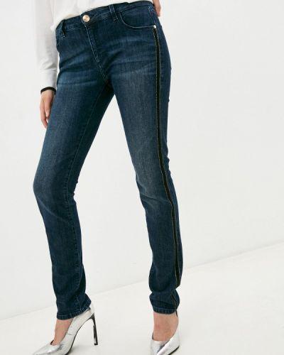 Джинсовые зауженные джинсы - синие Trussardi Jeans