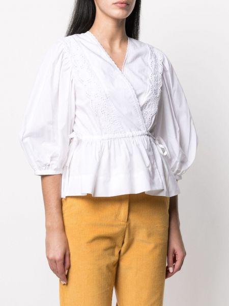 С рукавами белая блузка с вышивкой See By Chloé