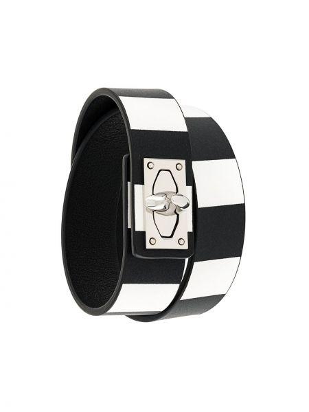 Кожаный браслет черный Givenchy