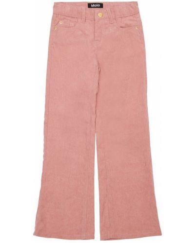 Розовые брюки вельветовые на резинке Molo