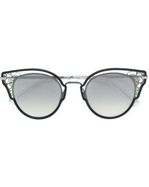 Прямые черные солнцезащитные очки металлические Jimmy Choo Eyewear