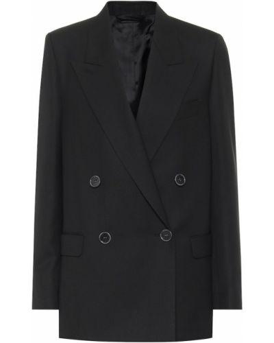 Шерстяной черный пиджак двубортный Acne Studios