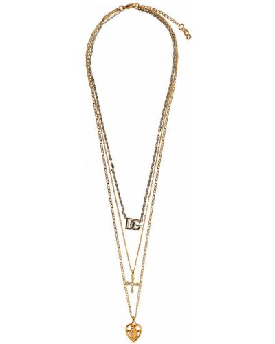 Złoty naszyjnik - żółty Dolce And Gabbana