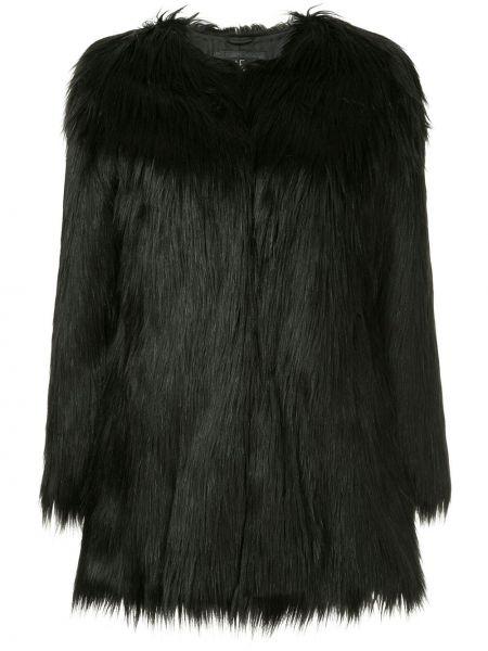 Черное пальто из искусственного меха Unreal Fur