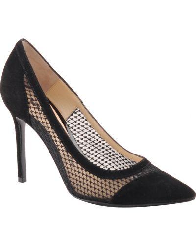 Кожаные туфли на каблуке замшевые Nando Muzi