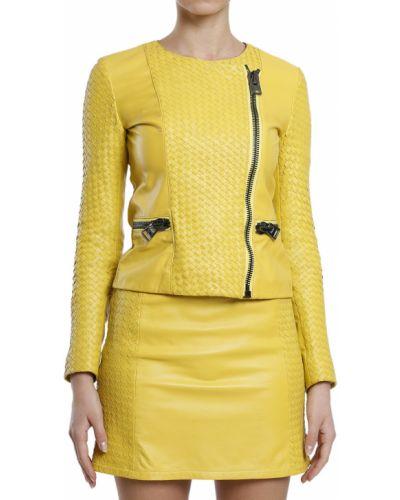 Кожаная куртка - желтая Hotel Particulier