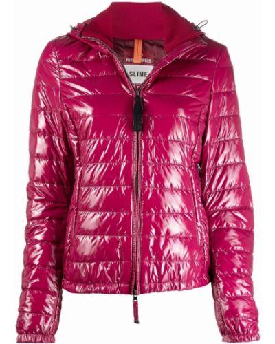 Розовое полупальто с капюшоном Parajumpers