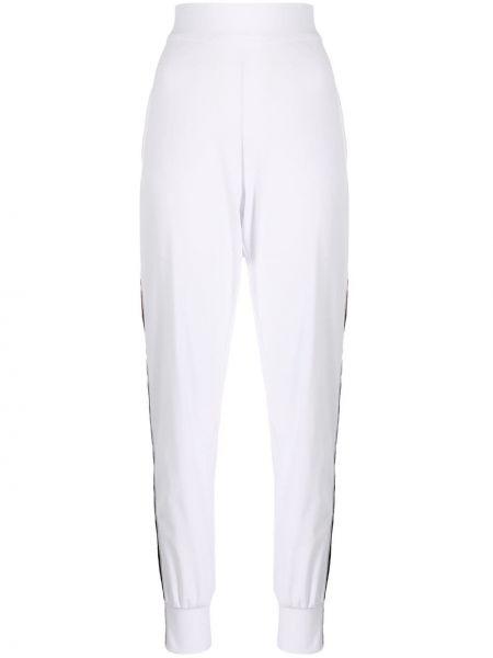 Спортивные белые спортивные брюки с поясом с высокой посадкой No Ka 'oi