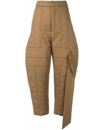 Укороченные брюки - коричневые Chalayan