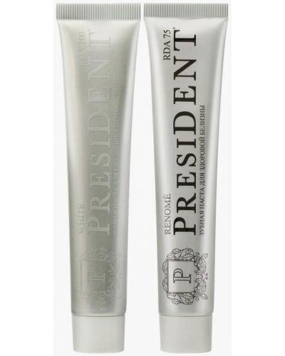Белая зубная паста President