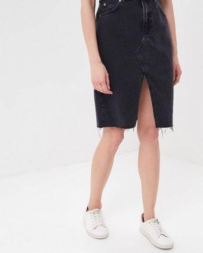 Черная джинсовая юбка Topshop