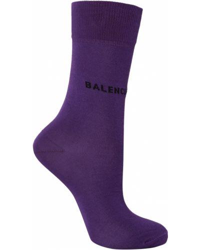 Фиолетовые колготки в рубчик Balenciaga