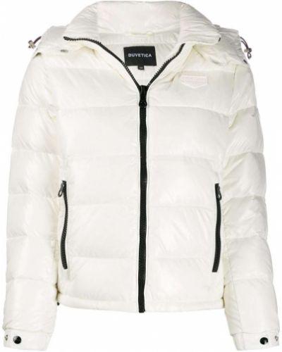 Куртка с капюшоном длинная на пуговицах Duvetica