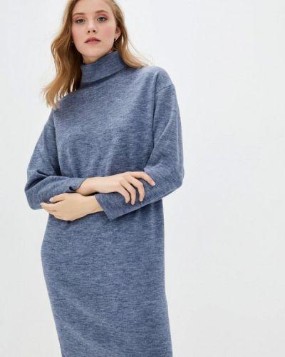 Серое трикотажное вязаное платье Прованс