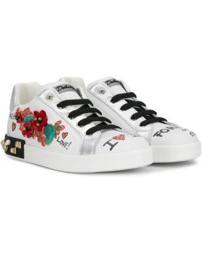 Кеды белые Dolce & Gabbana Kids
