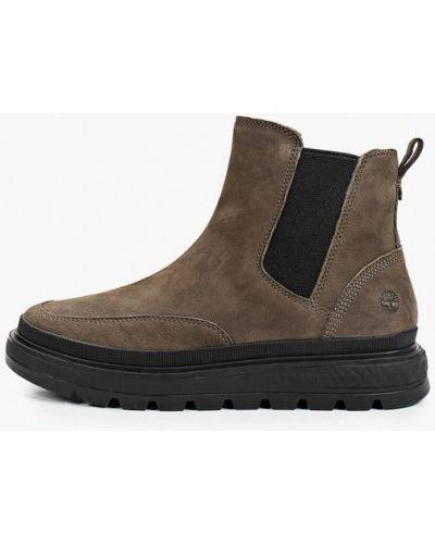 Кожаные ботинки челси - хаки Timberland